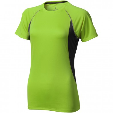 Quebec – T-Shirt cool fit für Damen, apfelgrün,anthrazit, XS