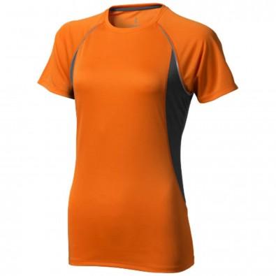 Quebec T-Shirt cool fit für Damen orange,anthrazit | M