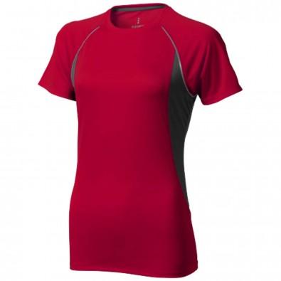 Quebec T-Shirt cool fit für Damen, rot,anthrazit, XXL