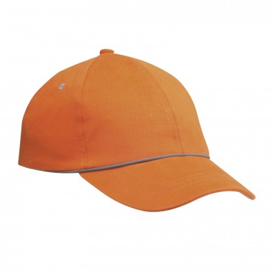 Reflektierende Kappe REFLECTS-VINARÒS, orange, kid size 54 cm