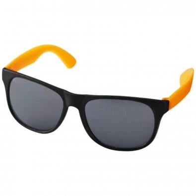 Retro Sonnenbrille, neonorange,schwarz