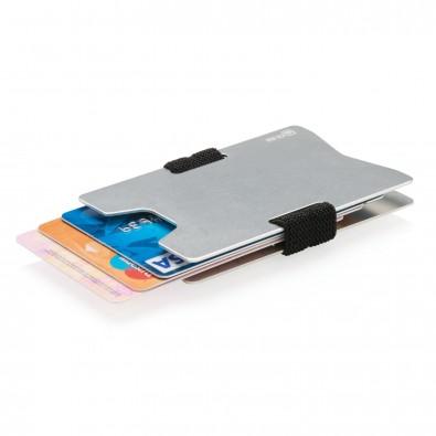 RFID Anti-Skimming Kartenhalter aus Aluminium, silber,schwarz
