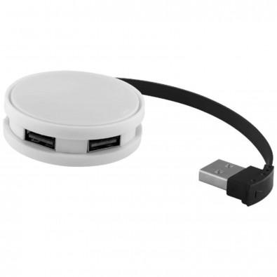 Round USB Hub, weiss,schwarz