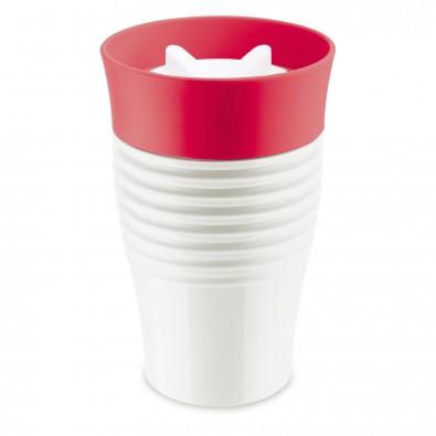 SAFE TO GO Thermo-Trinkbecher, cotton white/raspberry red400ml