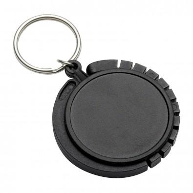 Schlüsselanhänger mit Taschenhaken REFLECTS-GRAZ, schwarz