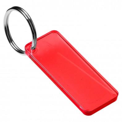 Schlüsselanhänger Rechteck, trend-rot PS