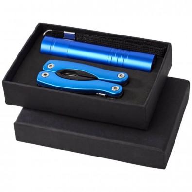 Scout Set Multifunktionswerkzeug und Taschenlampe, blau