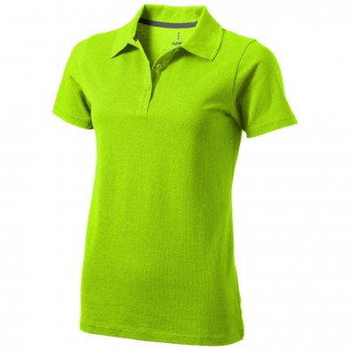 Seller Poloshirt für Damen, apfelgrün, XXL