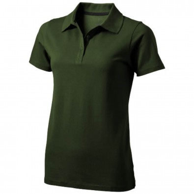 Seller Poloshirt für Damen, armeegrün, L