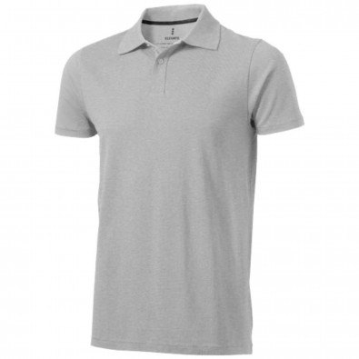 Seller Poloshirt für Herren, grau meliert, XS