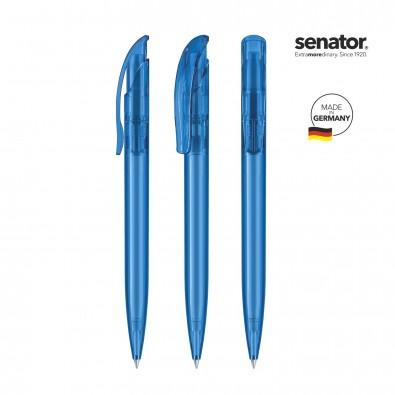 SENATOR Challenger Clear Druckkugelschreiber, blau 2935