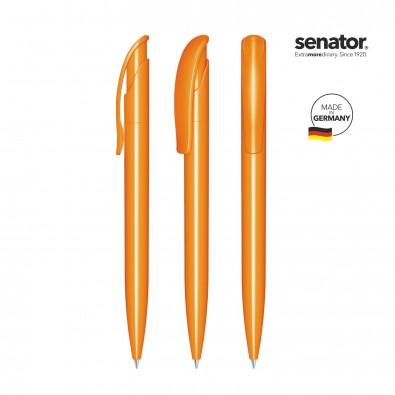 SENATOR Challenger Polished Druckkugelschreiber, orange 151