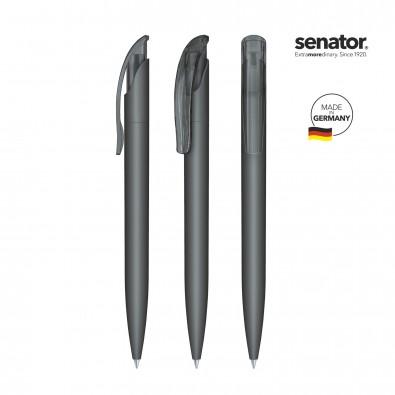 SENATOR Challenger Soft Touch Druckkugelschreiber, grau 445