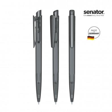 SENATOR Dart Clear Druckkugelschreiber, grau 445