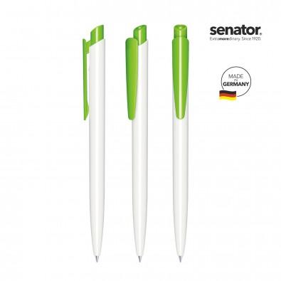 SENATOR Dart Polished Basic Druckkugelschreiber, weiß/grün 376