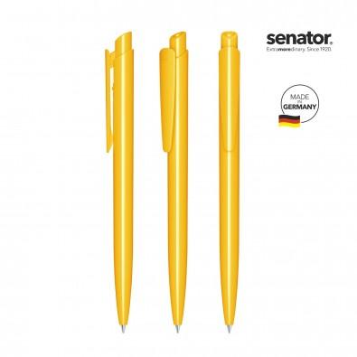 SENATOR Dart Polished Druckkugelschreiber, gelb 7408