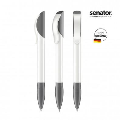 SENATOR Hattrix Polished Basic Druckkugelschreiber, weiß/grau cool gray 9