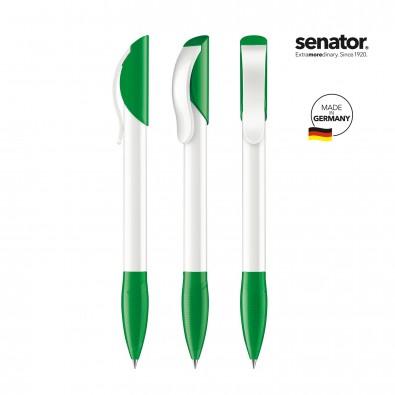 SENATOR Hattrix Polished Basic Druckkugelschreiber, weiß/grün 347