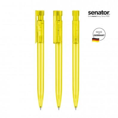 SENATOR Liberty Clear Druckkugelschreiber, gelb Hex. Yellow
