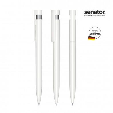 SENATOR Liberty Polished Basic Druckkugelschreiber, weiß/grau cool gray 9