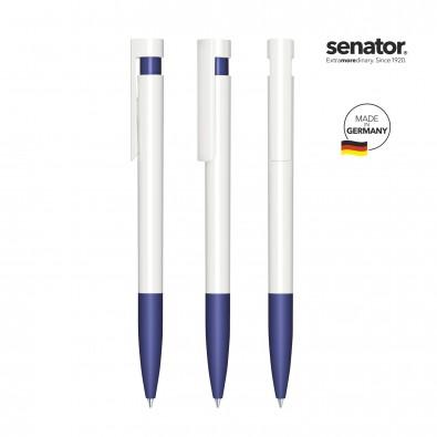 SENATOR Liberty Polished Basic SG Druckkugelschreiber, weiß/blau 2757