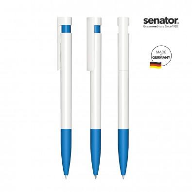 SENATOR Liberty Polished Basic SG Druckkugelschreiber, weiß/blau 2935