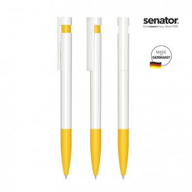 SENATOR Liberty Polished Basic SG Druckkugelschreiber, weiß/gelb 7408
