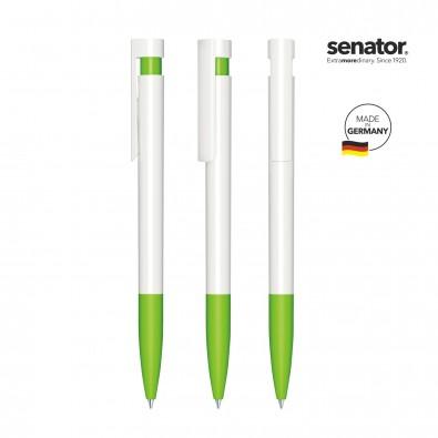SENATOR Liberty Polished Basic SG Druckkugelschreiber, weiß/grün 376
