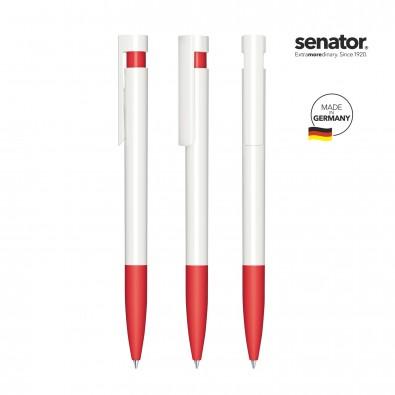 SENATOR Liberty Polished Basic SG Druckkugelschreiber, weiß/rot 186