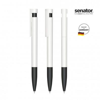 SENATOR Liberty Polished Basic SG Druckkugelschreiber, weiß/schwarz