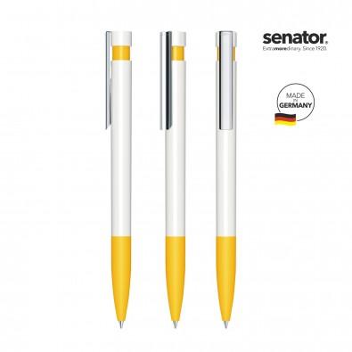 SENATOR Liberty Polished Basic SG MC Druckkugelschreiber, weiß/gelb 7408