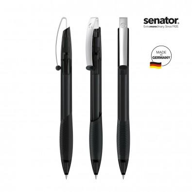 SENATOR Matrix Clear Druckkugelschreiber, schwarz