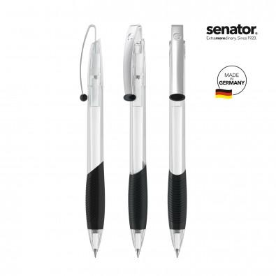 senator® Druckkugelschreiber Matrix Clear, weiß