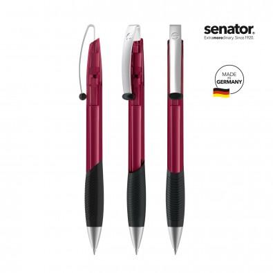 SENATOR Matrix Clear MT Druckkugelschreiber, rot 202