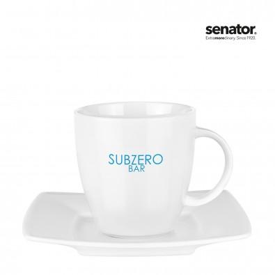 senator® Tasse mit Untertasse Set Maxim Cafet, weiß
