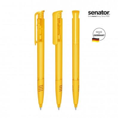 senator® Druckkugelschreiber Super Hit Clear SG, gelb 7408