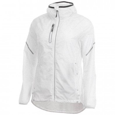 Signal Reflektierende verpackbare Damen Jacke, weiss, M
