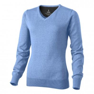 Spruce Damen Pullover mit V Ausschnitt, hellblau, XXL