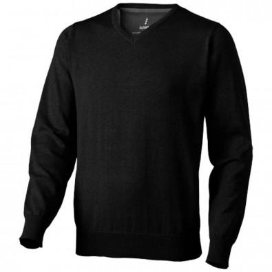 Spruce Pullover mit V-Ausschnitt, schwarz, XXL