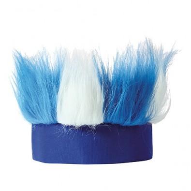 Stirnband Hairy weiß/blau