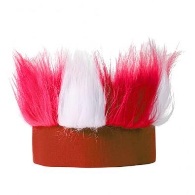 Stirnband Hairy weiß/rot