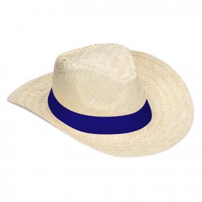 """Strohhut """"Texas"""", natur/blau"""