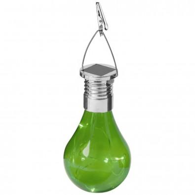 Surya Solar Glühbirne mit LED Licht grün