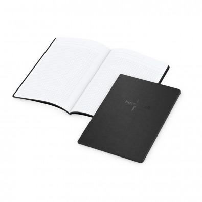Tablet-Book A5 Bestseller Farbschnitt und Prägung in Schwarz