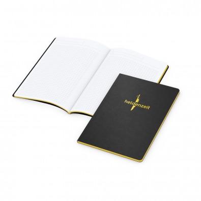 Tablet-Book A5, Farbschnitt und Prägung in Gelb