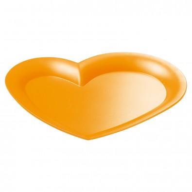 Tablett Midi-Herz, trend-orange PS
