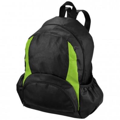The Bamm Bamm Non Woven Rucksack, schwarz,apfelgrün