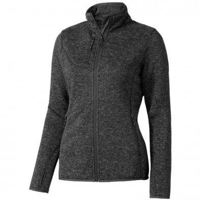 Tremblant Damen Strickfleece Jacke, Heather Smoke, M