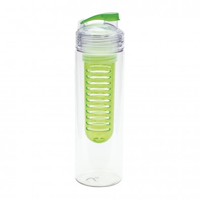 Trinkflasche mit Fruchtbehälter REFLECTS-JOLIETTA, grün