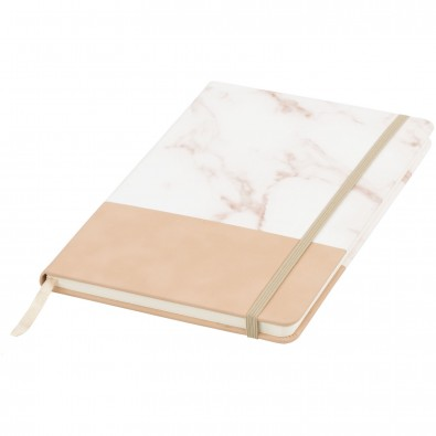 Two Tone DIN A5 Marmor Notizbuch, braun